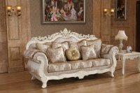 Serena Opulent Traditional Upholstered Sofa In Pearl White ...