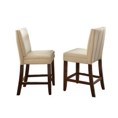 Counter Height Chairs Set Of 2 Wedding Chair Covers For Bride And Groom Bennett White Vinyl With