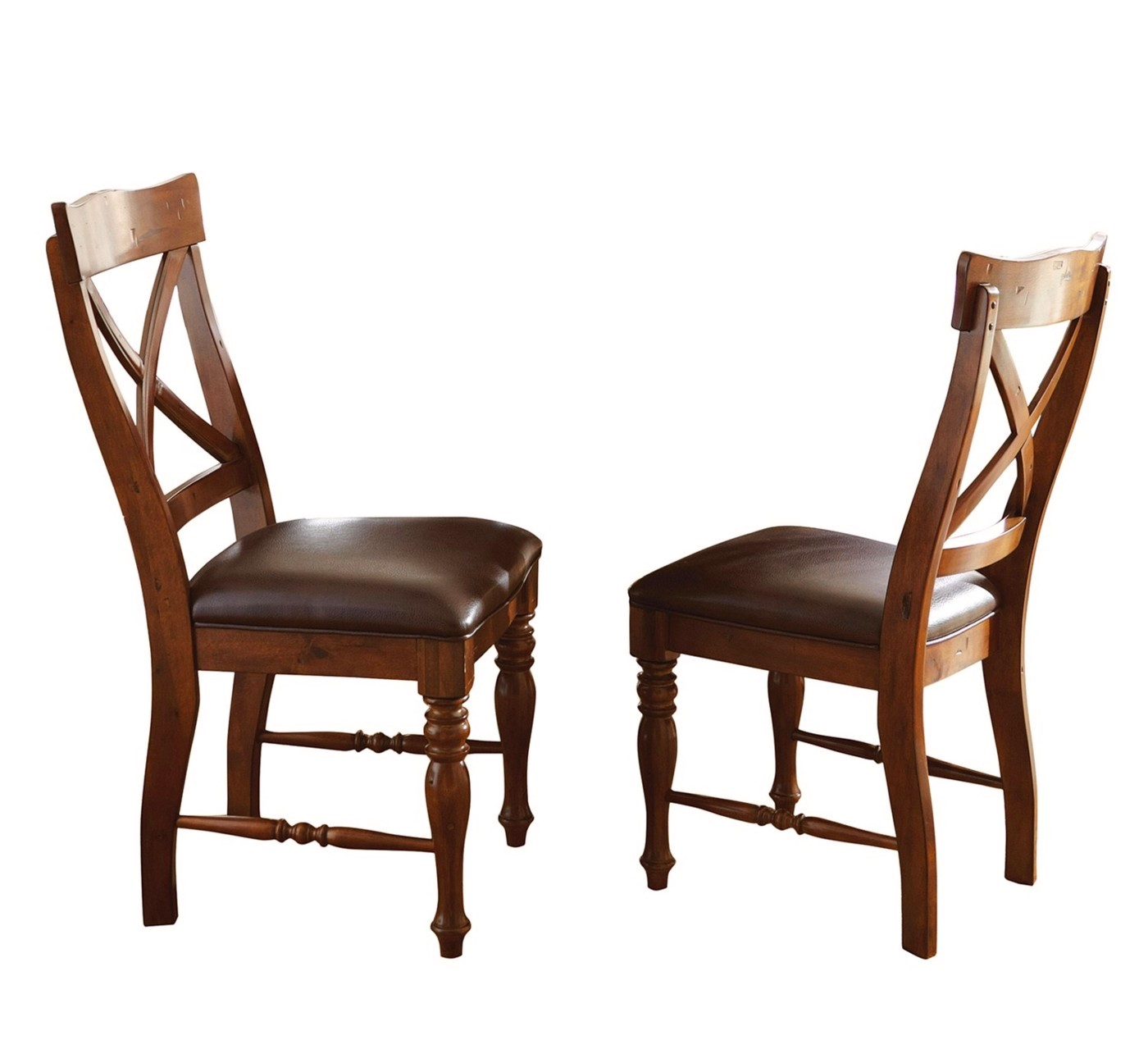 Cherry Chairs Set Of 2 Wyndham Rustic Country Birch Side Chairs In
