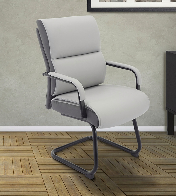 Signature Sleek Modern Office Guest Chair in Rocket Two