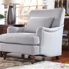 Grey Accent Chair With Arms Painting Kitchen Chairs Soft Saddle And Turned Legs