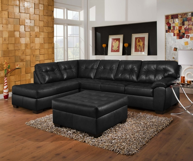 left arm sofa sectional condo size bed soho contemporary onyx leather w/ chaise