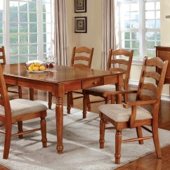 Ladder Back Dining Room Chairs Office Chair Yangon Country Style Set | Oak Formal