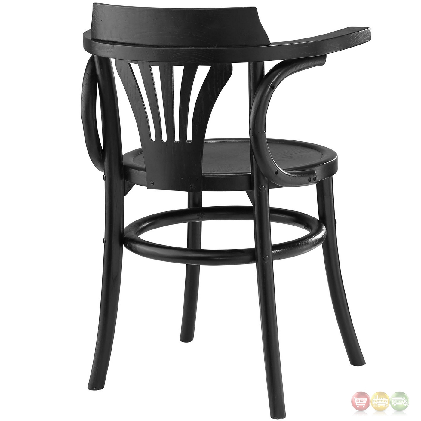 black side chair loose covers australia stretch modern rustic solid wood round seat dining