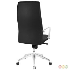 Office Chair Vinyl Folds Into Bed Stride High Back Upholstered In With
