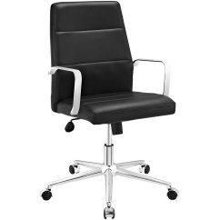 Office Chair Vinyl Cream Folding Chairs Stride Mid Back Upholstered In With