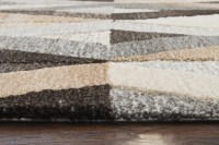 Suffolk 3d Diamond Wool Area Rug In Gray & Natural, 5' x 8'