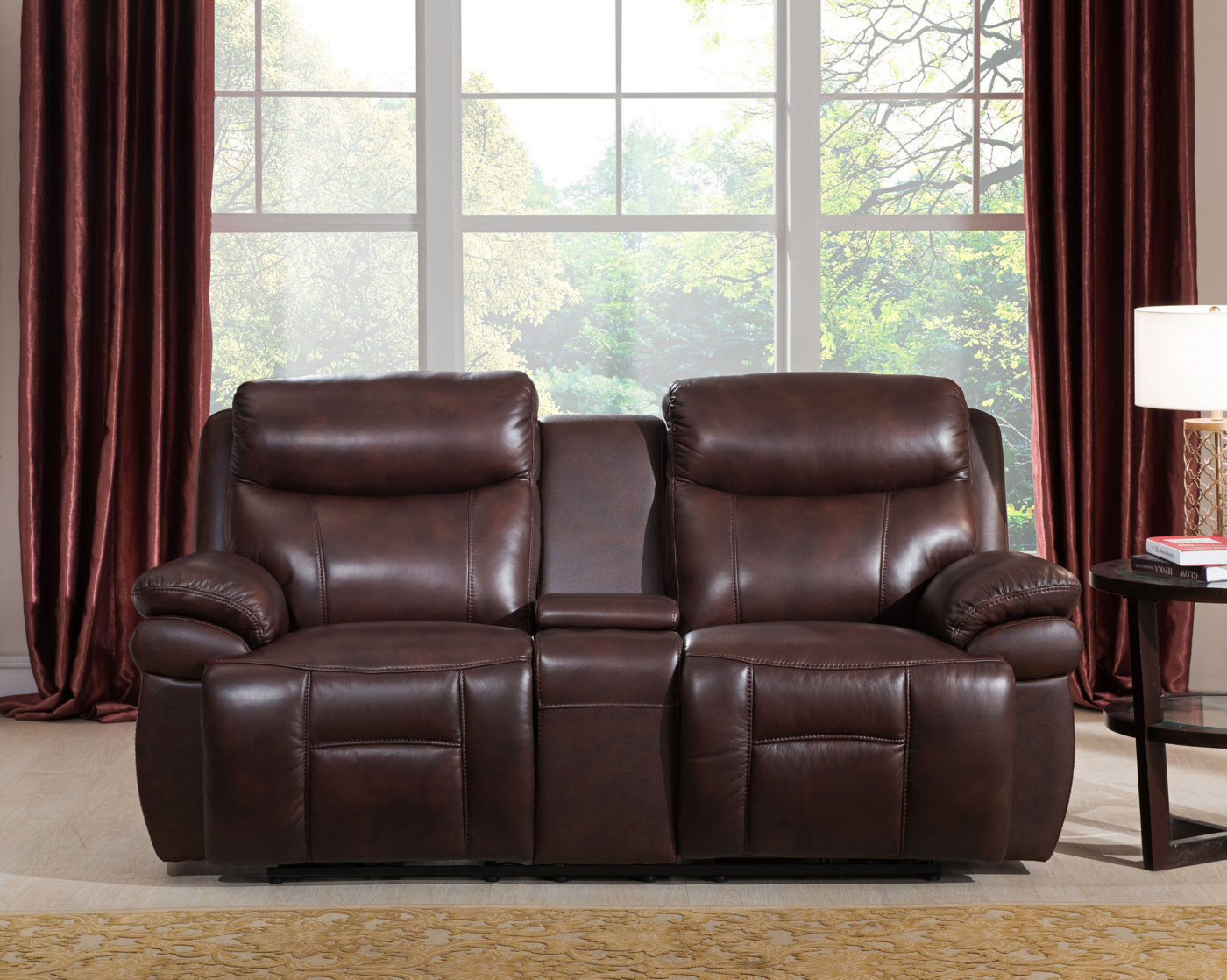 genuine leather power reclining sofa off white slipcover summerlands real full recline