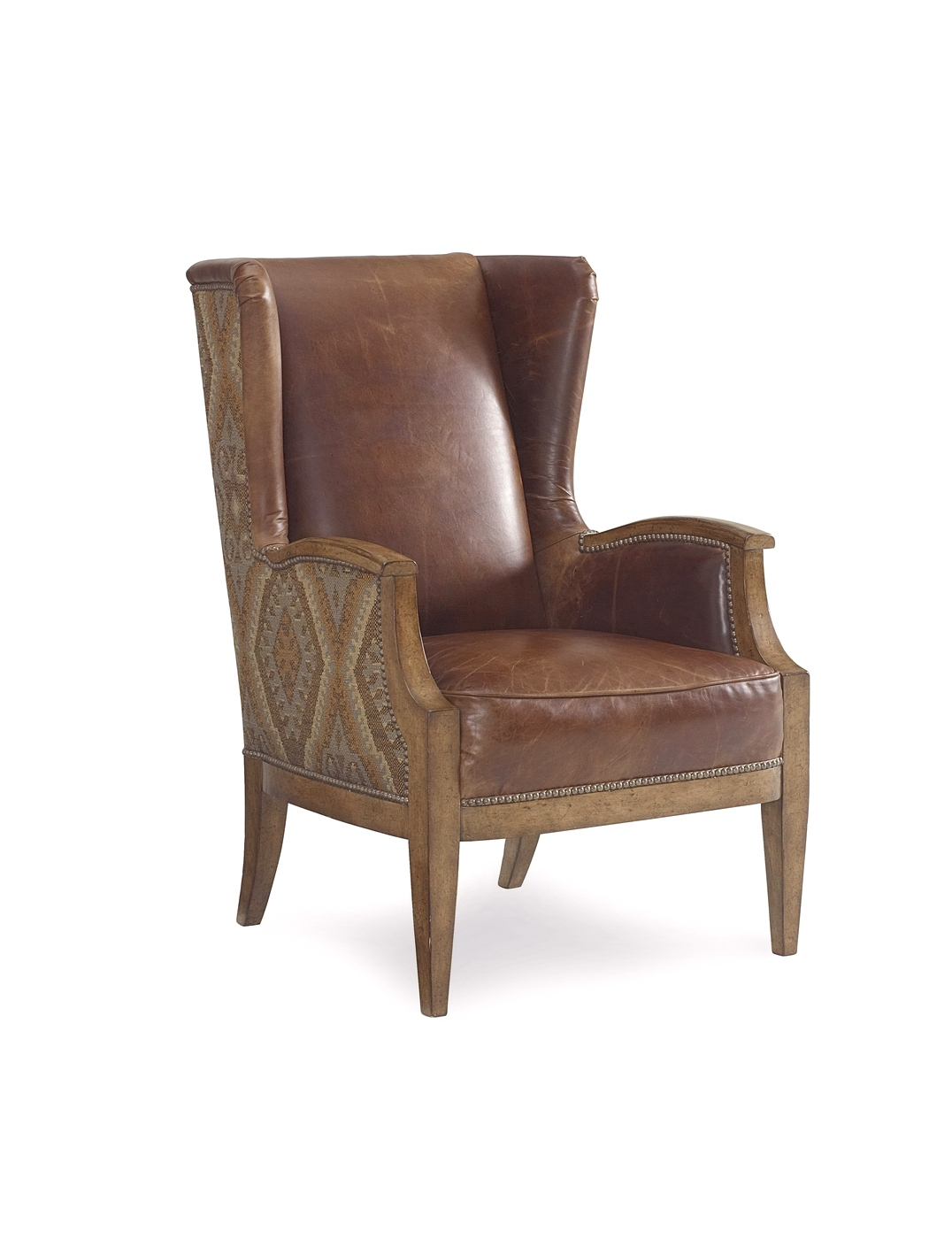 Aztec Chair The Foundry Antique Brown Aztec Wingback Chair With Nail
