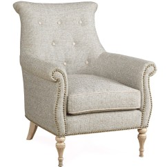 French Provincial Adele Occasional Chair Adams Mfg Adirondack The Foundry Grey Arm With Button Tufts