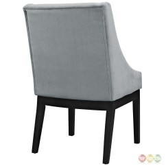Grey Upholstered Chair White Legs Stool Leather Tide Modern Suede Like Dining Side W