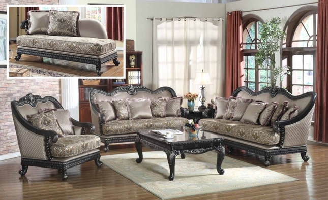 wood frame living room furniture sets leather traditional european design formal luxury sofa set dark loveseat frames