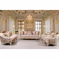 formal sofas for living room corner unit victorian inspired sets traditional sofa set with carved accents antique white gold
