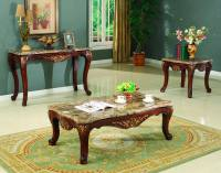 Traditional Occasional Cocktail Coffee Table End Table Set ...