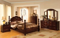 Tuscan II Classic Traditional Poster Bed Dark Pine Bedroom ...