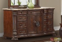 Unity Cherry Traditional Cherry Upholstered Bedroom Set ...