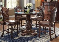 """Vendome 5pc Formal 48"""" Round Counter Height Dining Table ..."""