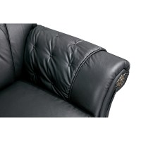 Black Leather Sleeper Sofa | Leather Tufted Sleeper Sofa
