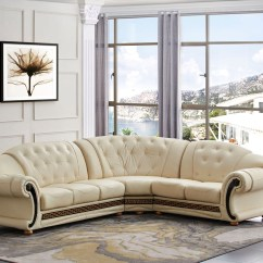 Marco Cream Chaise Sofa By Factory Outlet Theatre Seating Versace Leather Beige Shop
