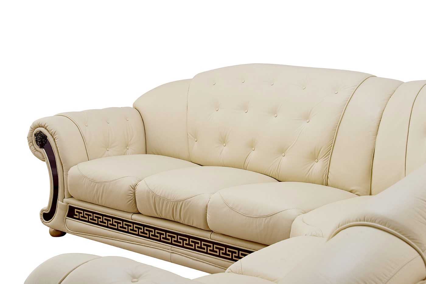 marco cream chaise sofa by factory outlet apt size leather sofas versace beige shop