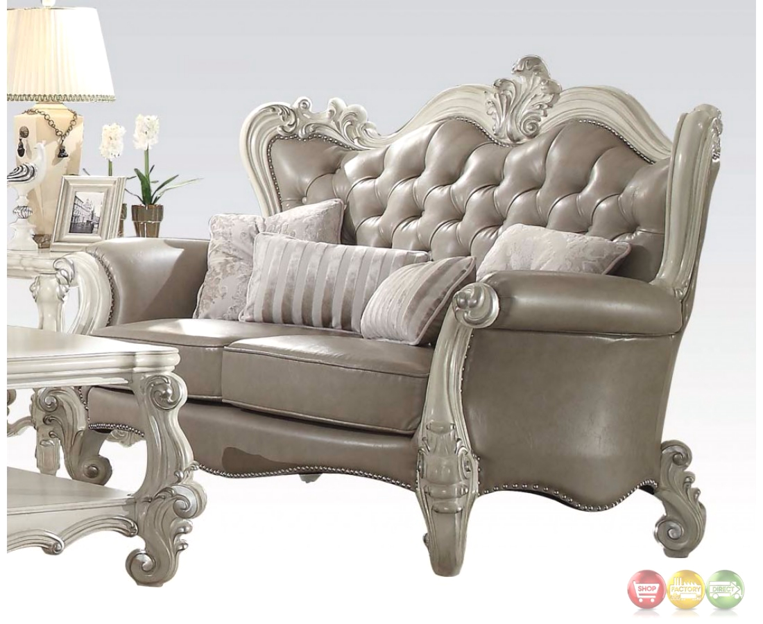 tufted button sofa house of motani sofas versailles vintage grey and loveseat in
