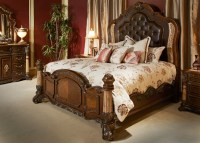 Michael Amini Victoria Palace Bedroom Set w/ Panel Bed in ...