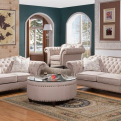 Simmons Sofa And Loveseat Apartment Sectional Sofas Walton Classic Sweetheart Button Tufted & ...