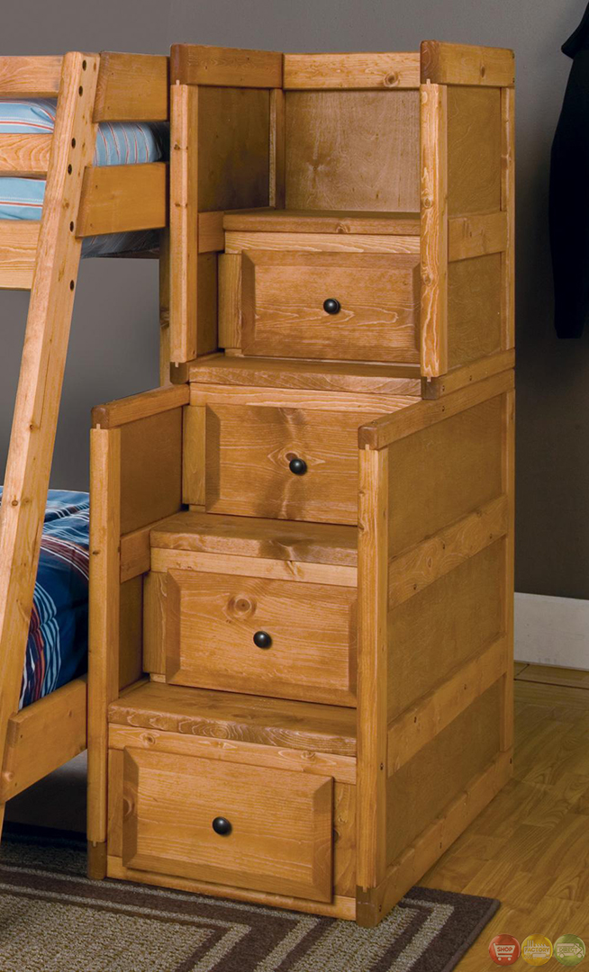 Wrangle Full Over Full Bunk Bed With Storage Drawers