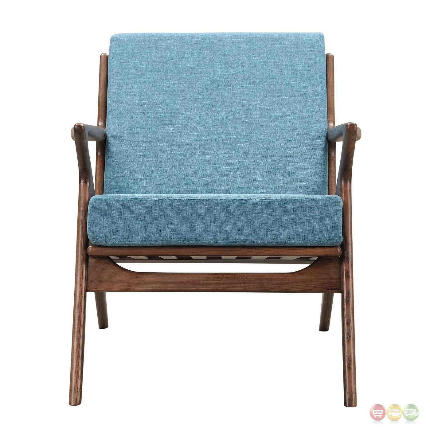 modern blue chair plastic seat covers for chairs zain mid century fabric with wooden