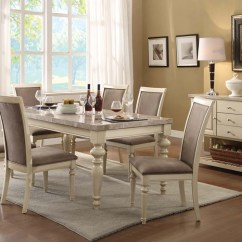 Antique White Dining Chairs How To Paint Plastic Set Ryder By Acme Furniture Ac71705set
