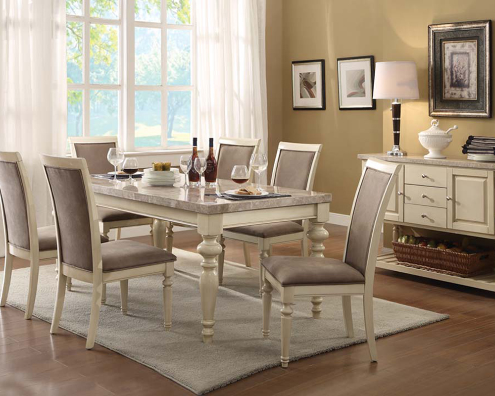 Antique White Dining Chairs Antique White Dining Set Ryder By Acme Furniture Ac71705set