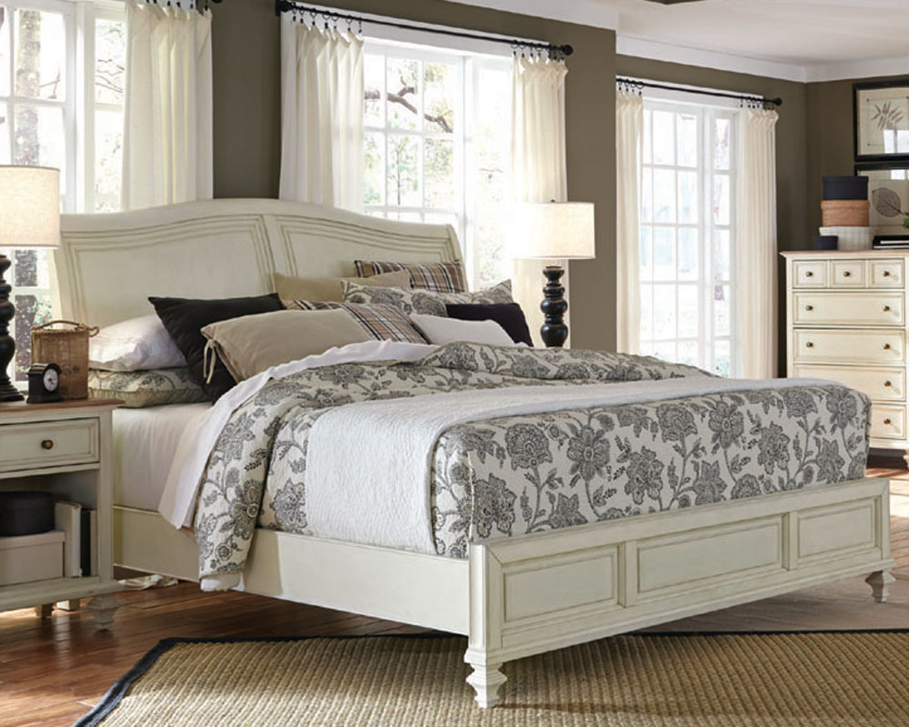 Aspenhome Furniture Sleigh Bed Cottonwood ASI674004BED