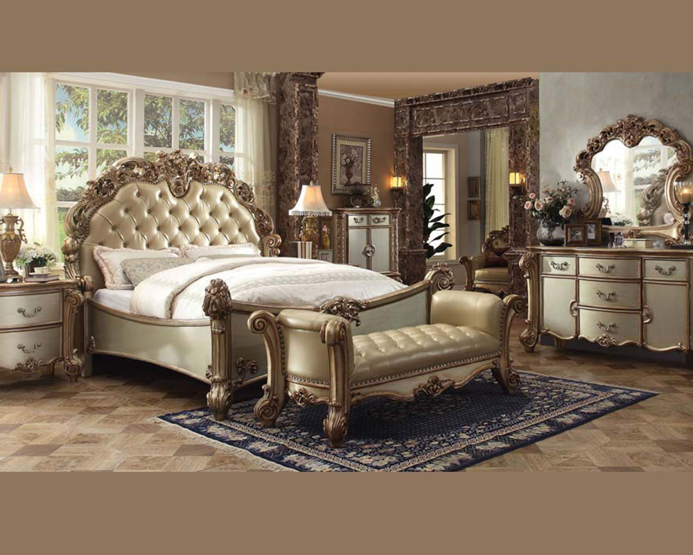 Bedroom Set Vendome Gold by Acme Furniture AC23000SET