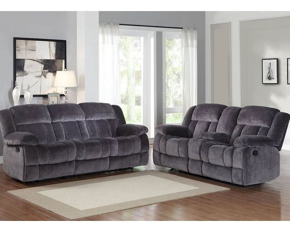 Charcoal Reclining Sofa Set Laurelton by Homelegance EL9636CCSET