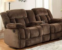 Chocolate Double Glider Reclining Loveseat Laurelton by ...