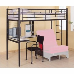 Loft Bed With Desk And Futon Chair Gray Dining Chairs Target Coaster Furniture Twin Bunk W Bunks Co2209