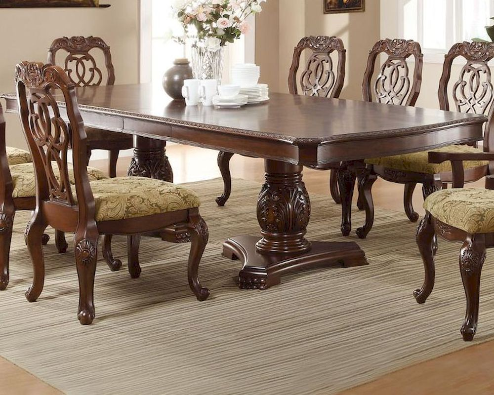 sofa mart dining tables set with chaise lounge coaster traditional table marisol co 103441
