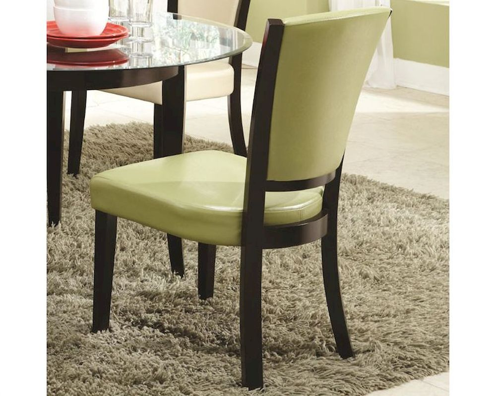 Green Upholstered Chair Coaster Upholstered Side Chair In Green Co 103682grn Set Of 2