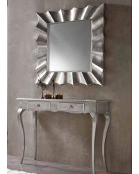 Contemporary Console Table and Mirror Set 33C41