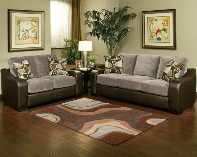 Contemporary Living Room Set Montana in Gray Finish BH-47SS201