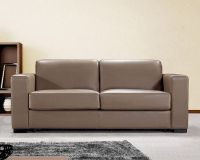 Dual Modern Brown Leather Sofa Bed 44L6036