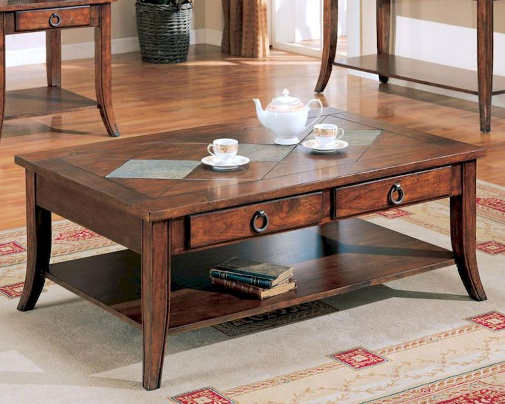 franklin coffee table with slate tile