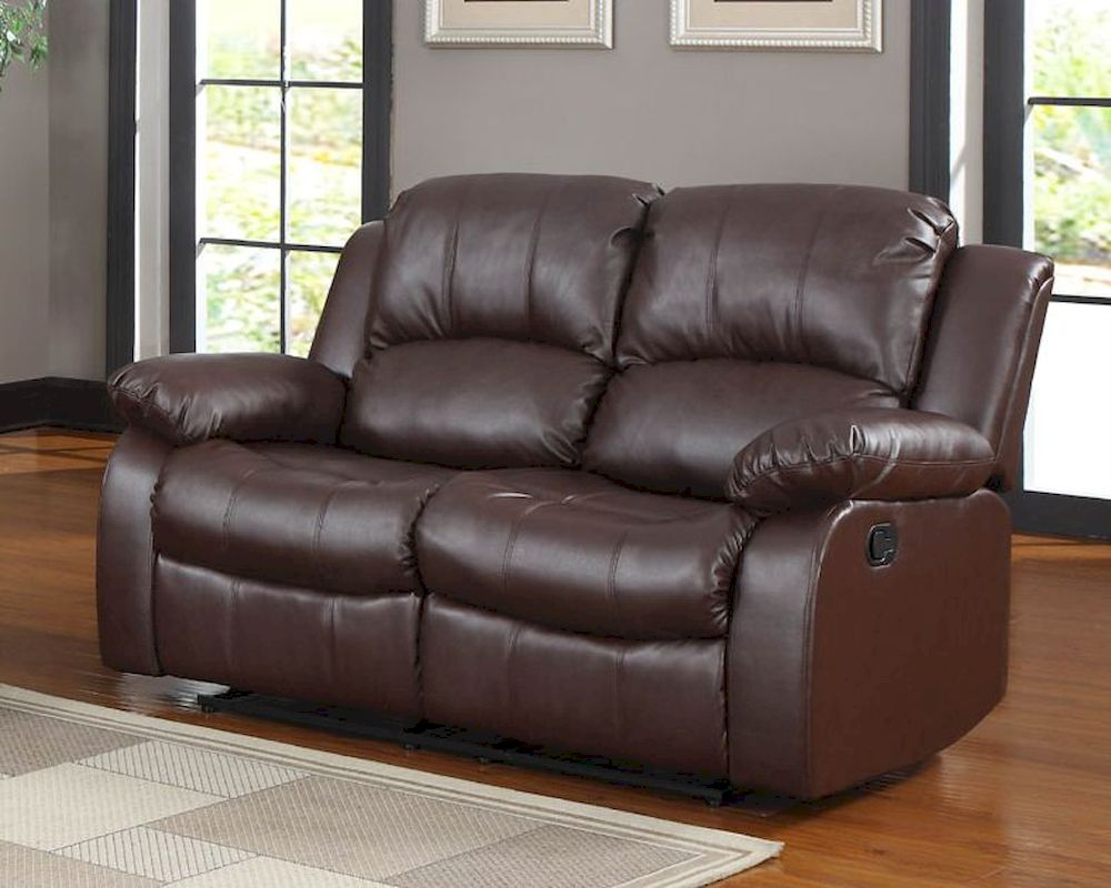 double recliner chairs yoga ball chair benefits homelegance reclining loveseat cranley in brown el 9700brw 2