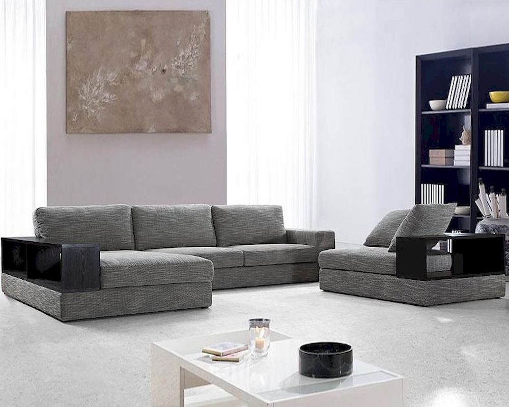 grey sofas leather abbyson living sofa reviews modern fabric sectional set 44l0739