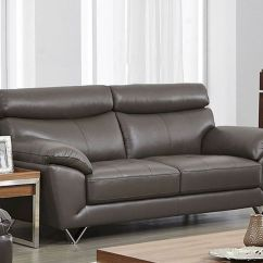 Sofa Gray Color 4 Seat Recliner Modern Leather In Grey Esf8049s
