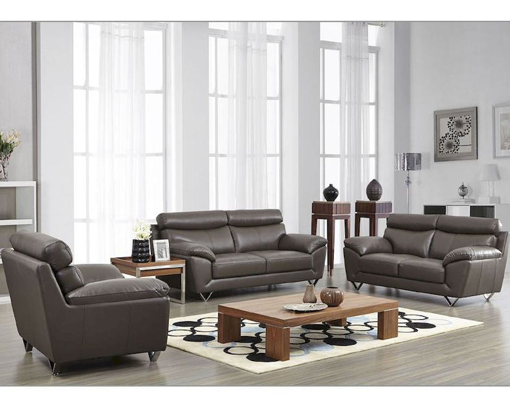 sofa gray color ashley furniture hariston modern leather set in grey esf8049set