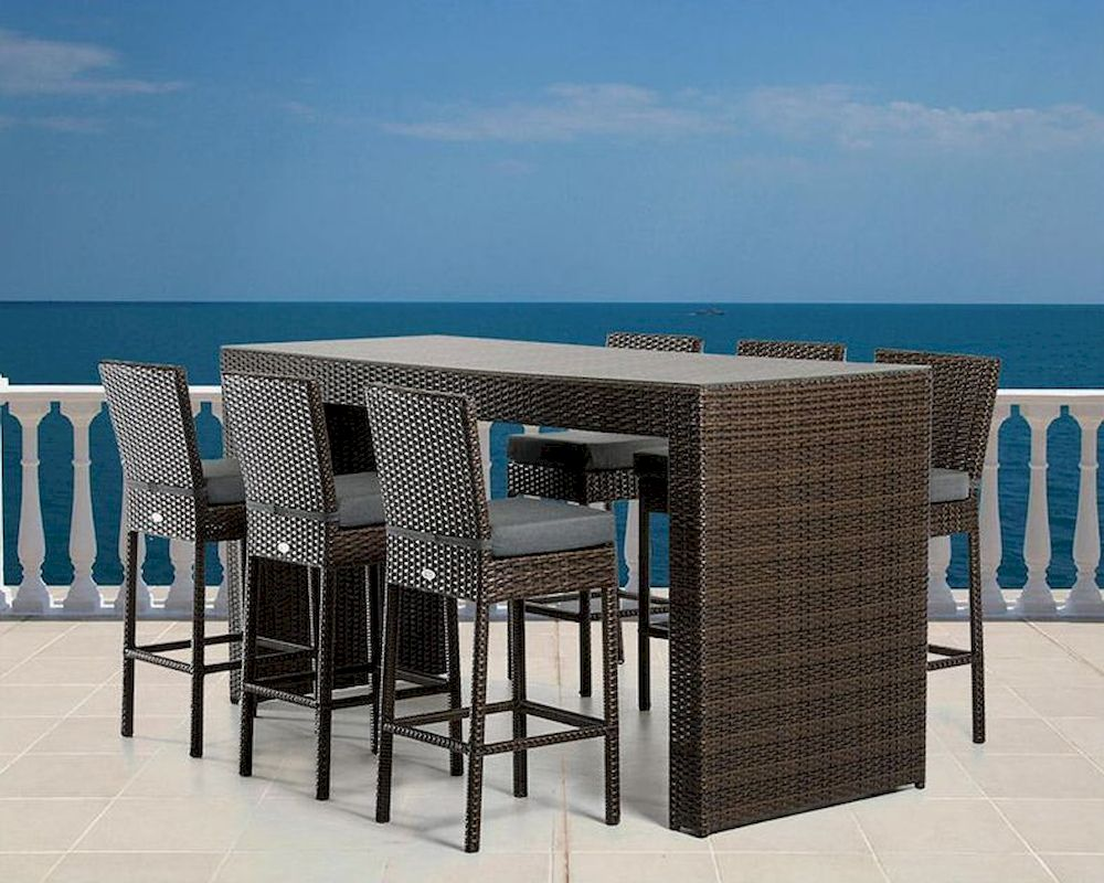 outdoor bar table and chairs stackable dining modern set 44p464
