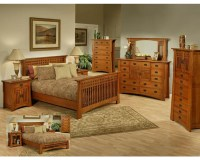 Oak Bedroom Set in Cherry Finish Bungalow by Ayca AY-AP5 ...