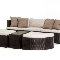 Beige Sofa Set Bed Topper Outdoor Brown In Modern Style 44p203