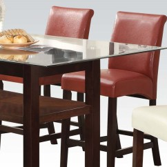Red Counter Height Dining Chairs Crushed Velvet Chair Ripley By Acme Furniture Ac71373 Set Of 2